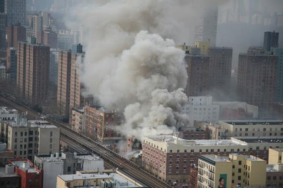 explosion and fire in east harlem
